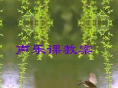 【艺术课件】声乐课教案1
