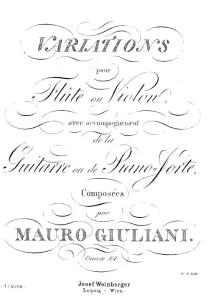 Op.84 - Variations (duo - guitare ou piano-forte e