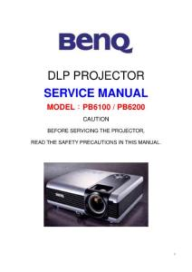 明基 DLP 投影机 PB6100 维修资料(含原理图)