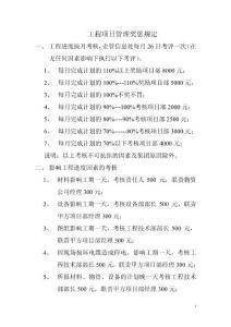 工程项目管理奖惩规定