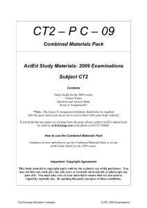 英国 IOA Study Material for CT2 (财务与财务报表) 2009