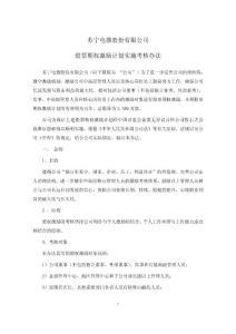 苏宁电器股份有限公司股票期权激励计划实施考核办法