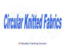 针织完全教程(Circular Knitted Fabrics)