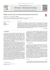 Double-nut-ball-screw-with-improved-operating-characteristics_2014_CIRP-Annals-Manufacturing-Technology