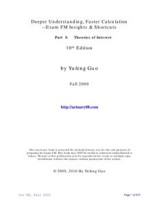 Guo´s Manuals SOA exam FM-ASA北美精算师考试