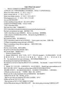 2014秋最新版人教版八年级英语下册各单位语法点汇总全[精品]