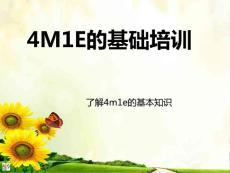 4M1E基础知识培训