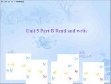 pep5五年级英语上册Unit5 Part B Read and write课件