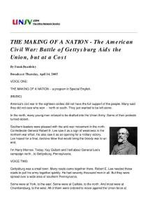 THE MAKING OF A NATION #110 - The American Civil War Battle of Gettysburg Aids t