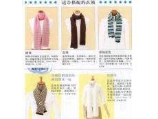 秋冬女士长围巾系法图解——韩式双层环结