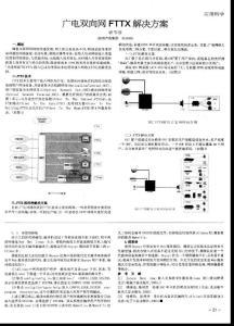广电双向网fttx解决方案