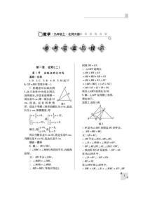 北师大版九年级数学上册练习册答案