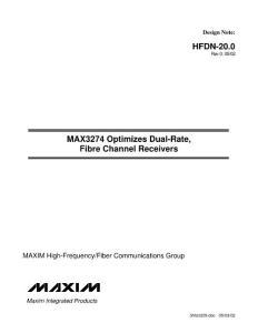双速率光接收器的技术特点(学术论文)