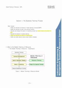 Master Planning of Resource study note