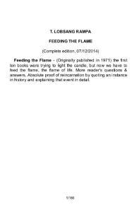 Feeding the Flame (1971) - Tuesday Lobsang Rampa