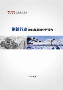 2015年钢铁行业风险分析报告