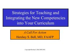Strategies for Teaching and Integrating the New ...