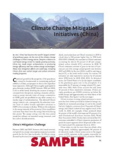 Climate Change Mitigation Initiatives (China)