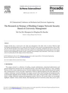 The Research on Strategy of Building Campus Network Security Based on University Management