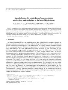 Analytical study of transonic flows of a gas condensing onto its plane condensed phase on the basis of kinetic theory