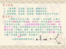 羧酸及取代羧酸【PPT】