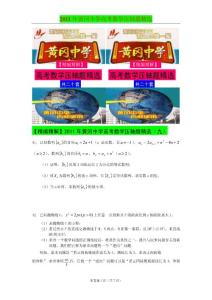 2011年黄冈中学高考数学压轴题精选(九)