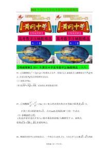 2011年黄冈中学高考数学压轴题精选(十八)
