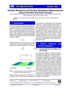 Surface Resistivity and Surface Resistance Measurements
