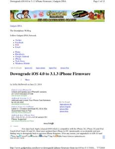 how to downgrade iphone firmware from