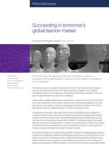 Succeeding in tomorrow's global fashion market