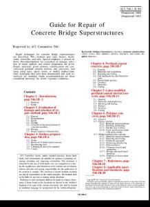 ACI 546.1R-80 Guide for Repair of Concrete Bridge Superstructures 混凝土桥梁上部结构修复指南