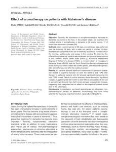 Effect of aromatherapy on patients with Alzheimer's disease