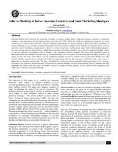 Internet Banking in India Consumer Concerns and Bank Marketing...