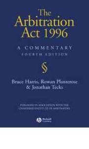 1996年仲裁法评论 The Arbitration Act 1996  A Commentary
