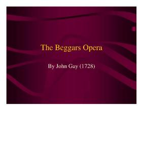 the beggars opera:乞丐歌剧