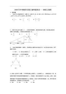 2009年中考数学分类汇编专题测试 相似三角形