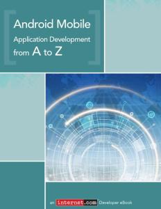 Android Application Development from A to Z