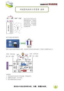 双液原电池的工作原理 盐桥(选修4预习)