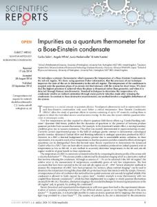 Impurities as a quantum thermometer for a Bose-Einstein condensate