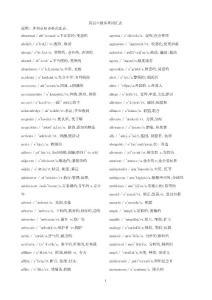 大学英语六级词汇表