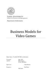 Business Models for Vid..