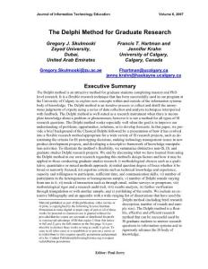 The Delphi Method for Graduate Research - JITE