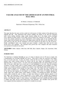 FAILURE ANALYSIS OF THE GIRTH GEAR OF AN INDUSTRIAL BALL MILL...
