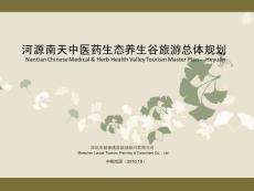河源南天中医药生态养生谷旅游总体规划(压缩)