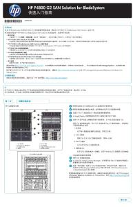 HP P4800 G2 SAN Solution for BladeSystem 快速入门指南