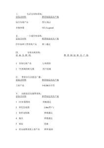 资料装备标准一览表