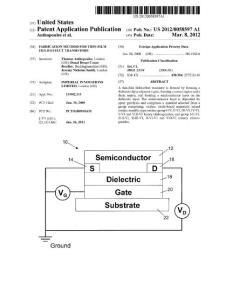 2012 Fabrication method for thin-film field-effect transistors_US patent