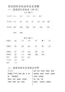 英语国际音标表和发音图解