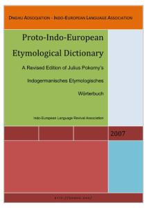 Etymological dictionary of Proto-Indo European language-[DNGHU ADSOQIATION]