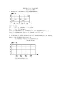 (北师大版)六年级数学下册期末复习 统计图表过关测试